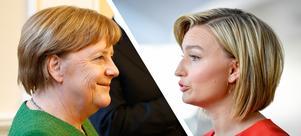Angela Merkel och Ebba Busch Thor är två av Europas kristdemokrater. Foto: Francois Lenoir/AP Photo och Jessica Gow/TT
