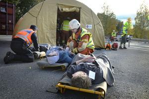 Det var många svårt skadade personer skulle tas omhand efter bussolyckan. Så många att det vid genomgången inte var någon av studenterna som hade kontroll över antalet.