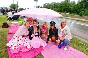 Rosa ligan: Lotta Nilsson, Annelie Engvall, Eva Fahlén, Carina Larsson och Karin Åhman. Foto: Lennye Osbeck