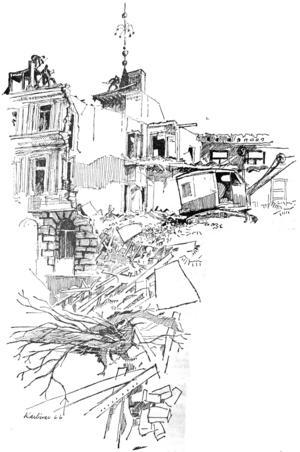 ÖP:s legendariske tecknare Karl-Ivar var på plats för att förmedla känslan av alltings förgänglighet.