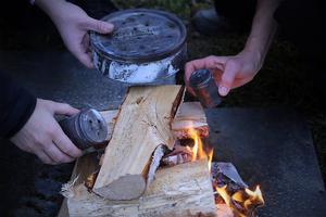 Här pågår pyrolys för fulla muggar.