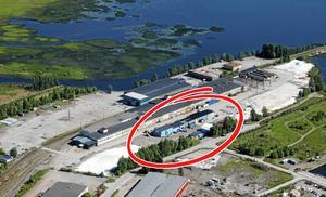 I och med köpet av Alucrom äger Gävle kommun nu hela det gamla Galvan-området. En viktig pusselbit när den nya stadsdelen Näringen ska växa fram. Flygfoto Lasse Halvarsson.