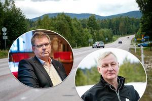 Både Sven-Erik Lindestam (S) som är ordförande i bland annat Hälsingerådet och Sven-Ulrich Olsson från LRF är kritisk till att det nu blir smalare vägrenar på riksväg 50 mellan Glössbo och Söderhamn.