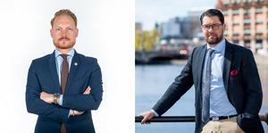 Aron Emilsson (SD) och Jimmie Åkesson (SD). Foto: Sverigedemokraterna