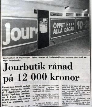 Faksimil från Dala-Demokraten den 7 november 1987.