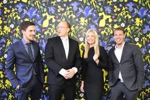Bemanningsföretagets Magnus Spolander, Pontus Puljer, Linnea Lindberg och Mattias Matsson lovar mer arbetstillfällen i Norrland.