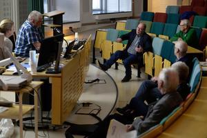 Villaägarnas lokalavdelningsordförande, Kenneth Selvehed, framförde flera synpunkter på vinterns snöröjning.