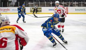 Zion Nybeck gjorde Sveriges första mål.