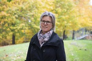 Kathrin Forss är lokal stödkvinna i Sundsvall.