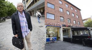 Per Lindberg, hyresgäst och ordförande i den nybildade bostadsrättsföreningen, var på plats när huset han bor skulle säljas på auktion.