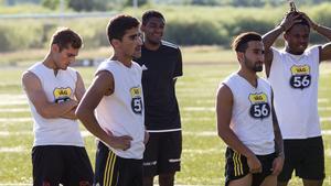 Bröderna Baba och Balen Nouri är två av Hebys hot i offensiven. Tillsammans med forwarden med Sunday Bale har man stått för laget samtliga mål i serien.
