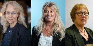 Marita Bertilsson, i mitten, vinnare av priset flankerad av de övriga nominerade kandidaterna Lena Brodin och Chris Österlund.