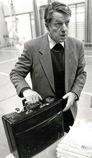 Bild från januari 1991, tagen i samband med ett besök på GIH i Örebro. Foto: NA arkiv