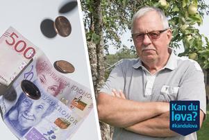 Sven-Åke Pettersson vill veta hur politikerna tänker kring skattefrågan. Foto: Fotograferna Holmberg / TT