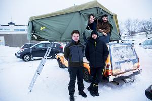 Äventyrsgänget från Luxemburg som älskar vinterresor i Sverige. I Nordkap övernattade de i 42 minusgrader.