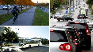 När 46 procent av resorna under fem kilometer inte görs med bil är det konstigt att hävda att bilen är det färdmedel som är totaldominant i Sundsvall, menar skribenten. Bilder: Arkiv