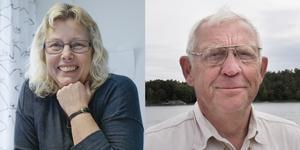 Maria Landin och Björn Öberg står bakom utställningen om rysshärjningarna som visas på Öja från den 6 juli till 13 augusti.