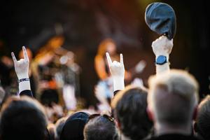 Få kvinnor på scenen på årets hårdrocksfestivaler Gamrocken och Sabaton Open Air i Dalarna. Arkivbild.