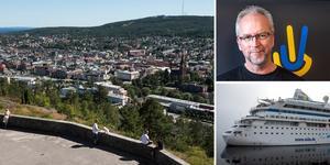 Norra berget var poppis bland de tyska turister som kryssade till Sundsvall med Aida Aura, berättar Mats Ågebrant på Näringslivsbolaget.