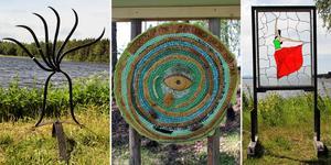 Sture Hansson, Sigrid Norman och Mats-Olof Nord är tre av konstnärerna som satt upp sina verk i hamnområdet i Moviken.