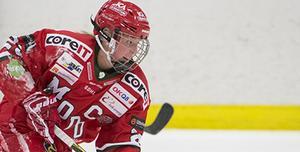 Modo-kaptenen Olivia Carlsson sköt två blytunga poäng till Modo. Bild: Erik Mårtensson/Bildbyrån