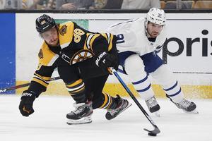 David Pastrnak har varit stekhet i slutspelet för Boston Bruins.