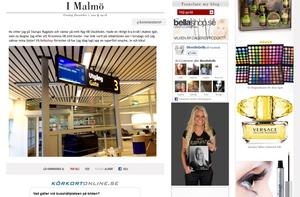 Blondinbellas blogg är ett exempel där det finns mycket reklam.