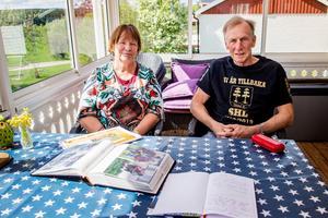 På Sigrid och Timmy Nordvalls veranda i Gisselåsen får pilgrimsvandrarna vila upp sig och fylla på energinivåerna.