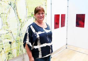 Margareta Andersson. Lockade 500 konstbesökare till Bomhus Folkets Hus.