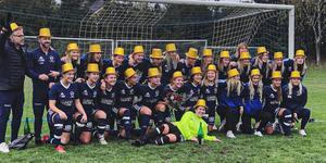 Nästa säsong väntar spel i division 2 för Östervålas damer. Foto: privat