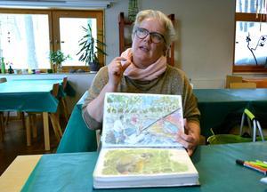 Annelie Sowell är en duktig konstnär med många utställningar bakom sig.