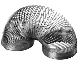 Ur katalogen 1978. Men Slinky var en färdig produkt redan 1945, spiralen som kan gå i trappor.