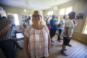 Carina Nilsson är projektledare för utställningen och barnbarn till Jonas Gunnar Höglund.