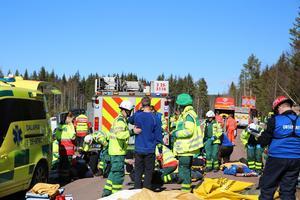 Övningen övervakades av en mängd observatörer från blant annat landstinget Dalarna och räddningstjänst från andra län.
