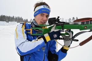 I helgen körde Alfred Eriksson hem ett SM-guld för juniorer i skidskytte.