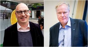 Lasse Karlsson från Täljerevyn och förra SD-politikern Tommy Blomqvist. Foto: Elias Zazi och Mattias Holgersson