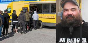 Mika Koskinen bytte från rörmokeri till ambulerande hamburgeri när han för 1,5 år sedan startade MK Burger. Men nu återgår han till rörmokaryrket efter det att MK Burger satts i konkurs. Foto: Joel Engström/Arkvi