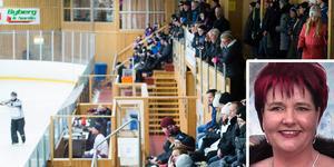 Agneta Täfvander, kanslist i Kovlands Ishockeyförening berättar att det var uppbrutet och nedstökat i hallen och cafeterian.