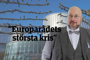 Det här är en ledartext av Patrik Oksanen.  Bilden i bakgrunden är en pressbild från Europarådet.