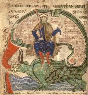 Antikrist sitter på Leviatan, ur