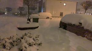 Det var fullt med snö på Samset Bild: Mathias Heiel