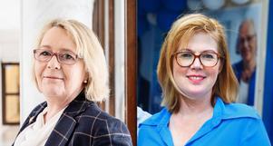 Regionråden Irene Svenonius (M) och Anna Starbrink (L). Foto: Emma-Sofia Olsson/TT och Karolina Önnebro