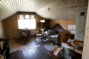 Kammaren på övervåningen här sov Ester och Helmer Johansson.