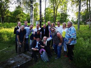 Monica Törnell, Östen Eriksson och Jens Kristensen levererade en helkväll att minnas i Axmar hytta.