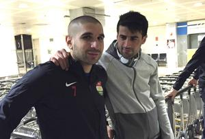 Rawez Lawan och Mesut Meral i samband med Dalkurds träningsläger i Spanien.