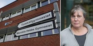 """Utbildningskontoret föreslår att Wendela Hebbegymnasiet slutar ta in nya elever. """"Många känner att man rycker bort en kulturinstitution"""" säger Cecilia Ogenmark."""