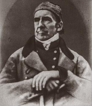 Det första kända fotografiet från Dalarna: Bergmästaren Clas Wallman förevigades 1844 av fotografen Wilhelm Heinemann.  Bild ur Dalarnas museum arkiv.