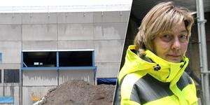 """I Björbo har Dala Cements investering i 40-miljonersklassen växt upp i rask takt under hösten. """"Nya blandarstationen är hjärtat i vår verksamhet"""", understryker vd:n Karin Jugas."""