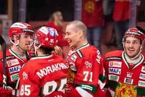 Gladast av alla att näta var Marek Daloga. Foto: Daniel Eriksson / BILDBYRÅN