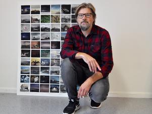 Magnus Petersson gillar att göra många små bilder, som blir som dagboksanteckningar.